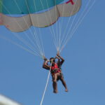 excitement paragliding candolim beach
