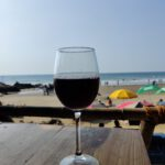 wine in a while at vegator beach