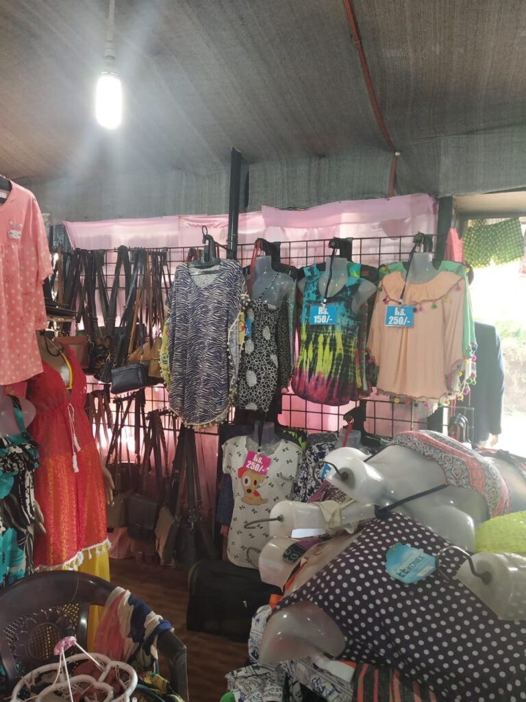 bikini and clothes at the local shops of goa